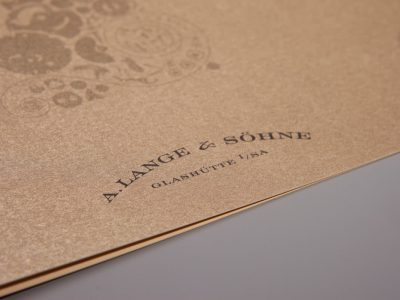 A. Lange & Söhne Festkarte